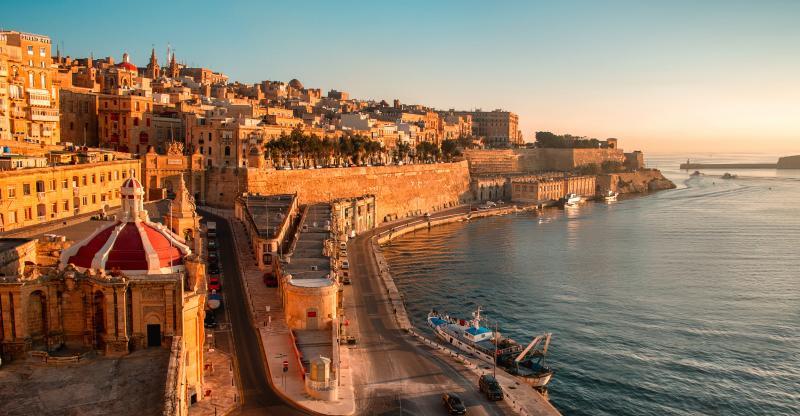 La Valeta, en Malta. Entrada al Grand Harbour
