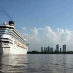 Crucero saliendo de Buenos Aires