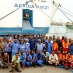 Tripulantes del Africa Mercy durante la campaña del Congo 2013-2014