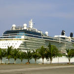 Celebrity Equinox docked at the port in Limón, Costa Rica
