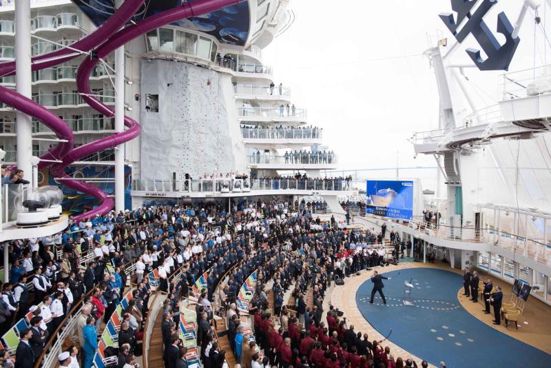 Ceremonia de entrega del Harmony of the Seas