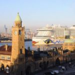 El AIDAprima ingresa en Hamburgo
