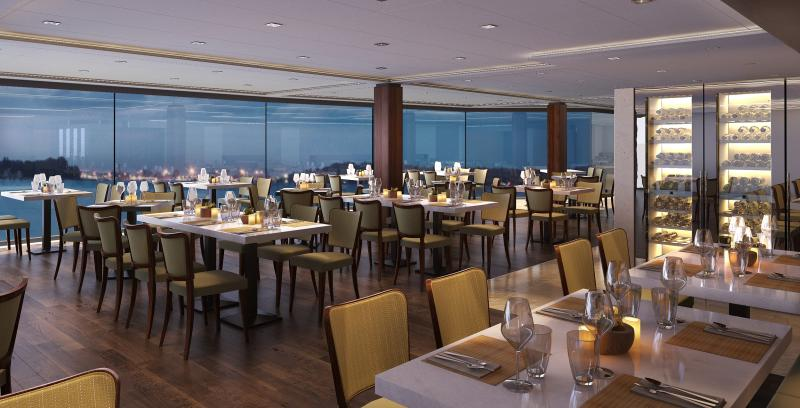 MSC Meraviglia Marketplace buffet seats up to 1345 guests