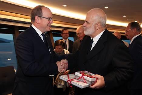 SAR Principe Alberto II de Monaco con Manfredi Lefebvre D´Ovidio