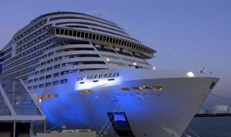 Inauguración del MSC Meraviglia