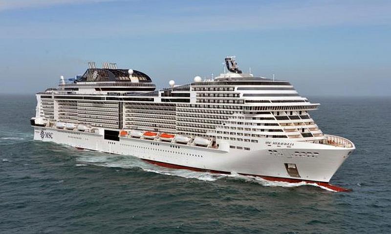 Port Info en el MSC Meraviglia