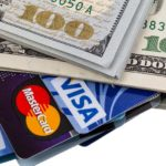 Dollars and credit cards Visa and Mastercard